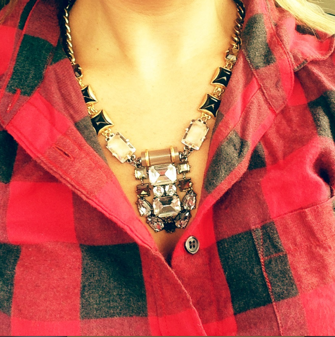 buffalo plaid and bling.