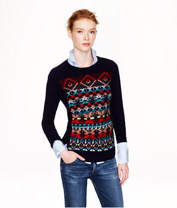 J.Crew Jacquard-Stitch Fair Isle Sweater.