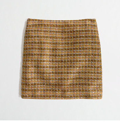 J.Crew Factory Metallic Tweed Mini.
