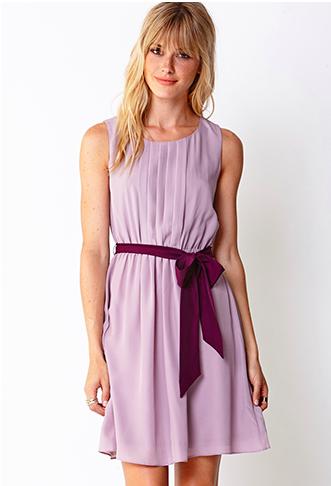 Forever 21 Pleated Dress with Sash