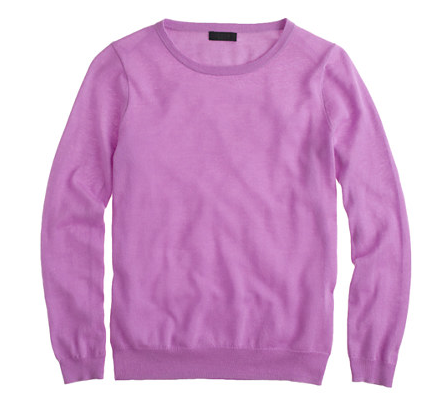 J.Crew Featherwieght Cashmere Long-Sleeved Tee.