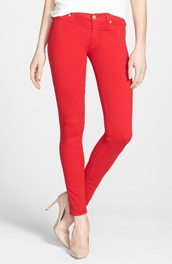 Hudson Mid Rise Skinny Jeans.