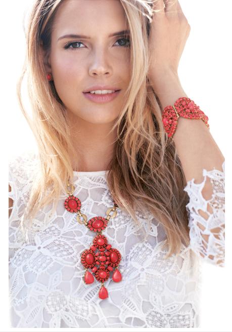 Stella & Dot Sardinia Necklace and Bracelet.