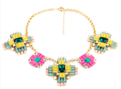 Accessory Concierge Mosaic Deco Necklace.