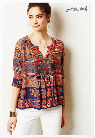 Anthropologie Mahdia Peasant Blouse.