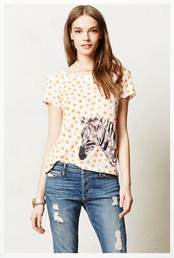 Anthropologie Watercolor Chatty Tee.