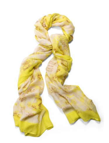Stella & Dot Citrine Floral Palm Springs Scarf.