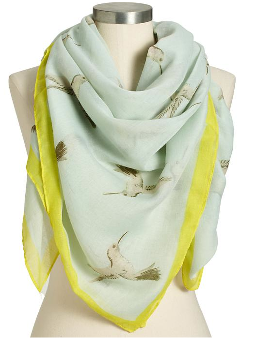 Old Navy Gauze Watercolor Scarf.