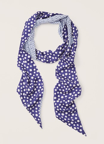 Loft Dotted Heart Print Scarf.