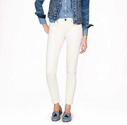 """J.Crew Stretch Toothpick Jean. {J.Crew has recently """"re-formulated"""" their Toothpick denim to include more stretch, which makes these more flattering and comfortable than last season's.}"""