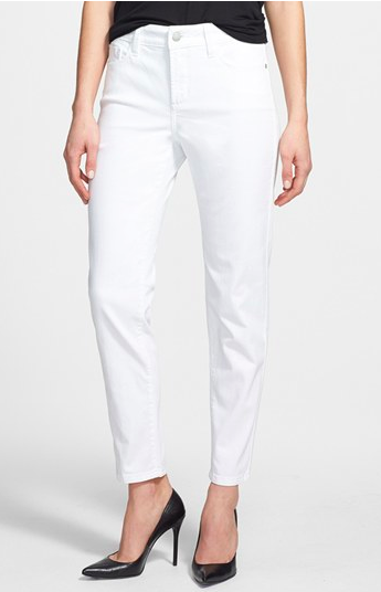 "NYDJ Clarissa Ankle Skinny Jean. {I have put many clients who have said they ""can't wear white jeans"" in this pair and they are pleasently surprised by the super-flattering fit!}"