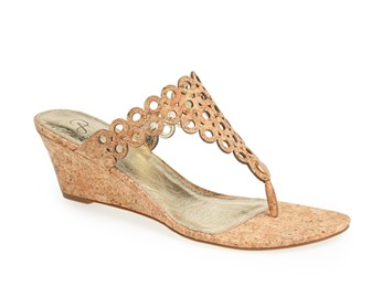 Adrianna Pappel Wedge Sandal.
