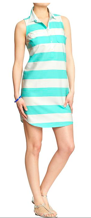 Old Navy Striped Oxford Shirtdress.