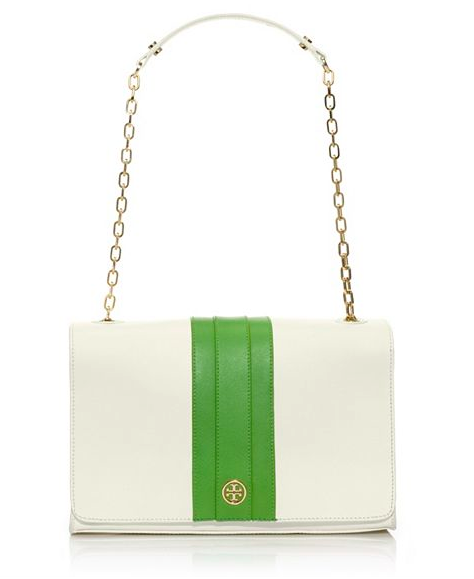 Tory Burch Robinson Striped Shoulder Bag.