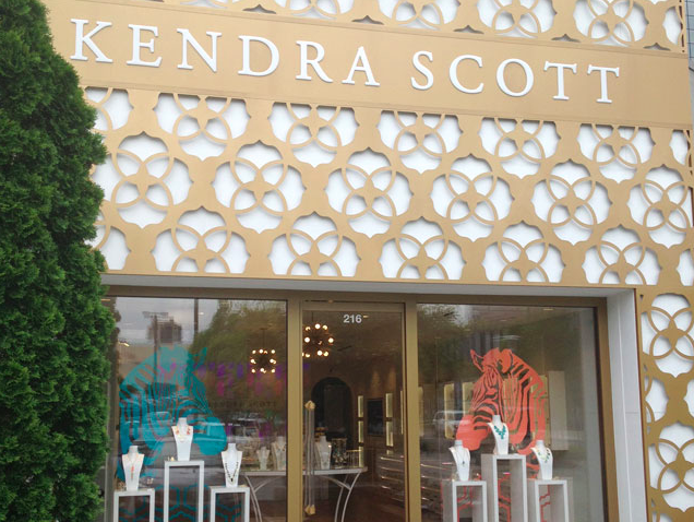 The Atlanta Kendra Scott Store in the Shops Around Lenox.