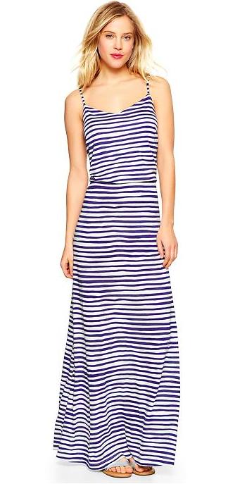 Gap Stripe Maxi Dress.