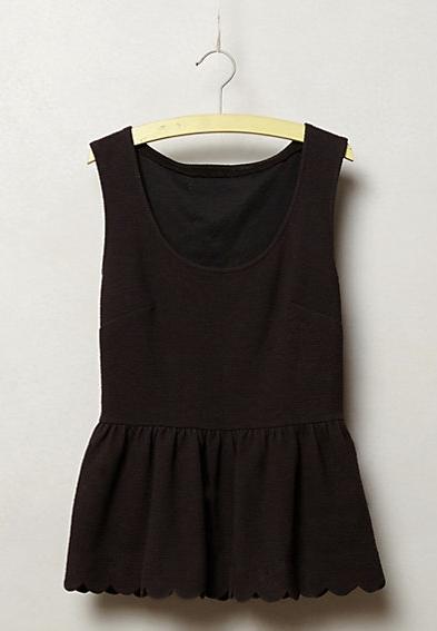Clovelly Peplum Top in black, $39.99. {normally $68}