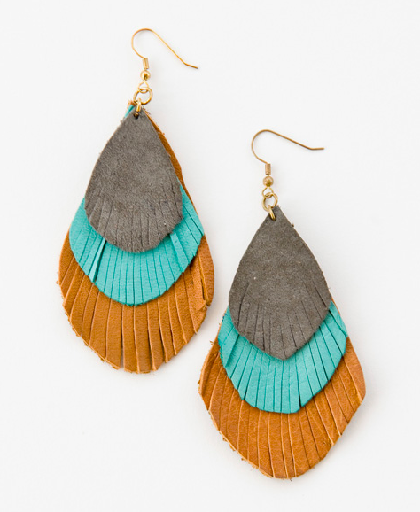 Annie's Feather Earrings, $32.