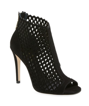 Ivanka Trump Cutout Cage Open Toe Suede Booties, $99.90. {reguarly $149.95}