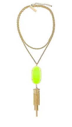Kendra Scott Rayne in neon yellow.