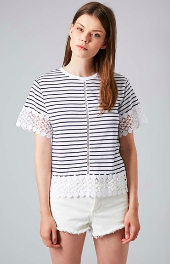 Topshop Lace Panel Tee.