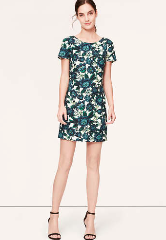 Loft Floral V-Back Dress.