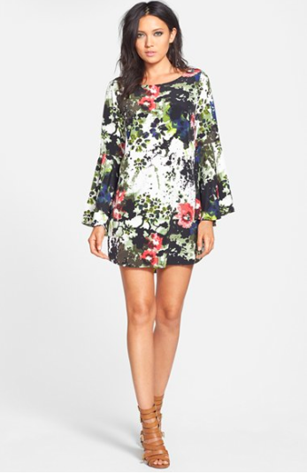 Tildon Bell Sleeve Mini Dress via Nordstrom. Such a perfect dress for year-round wear!
