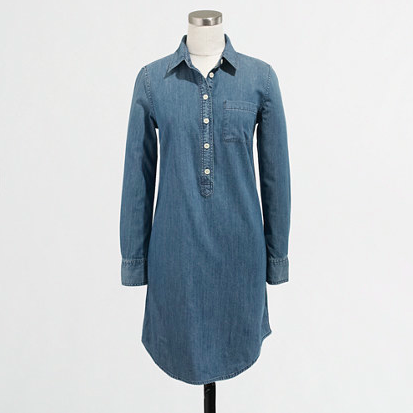 J.Crew Factory Chambray Shirtdress. {currently on sale!}