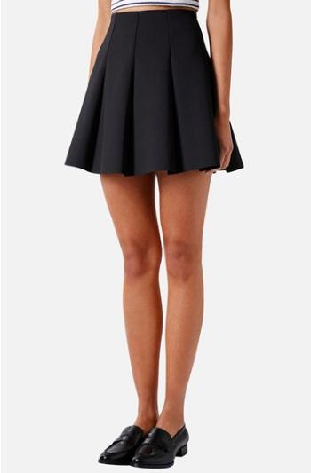Topshop Pleated Scuba Skirt.