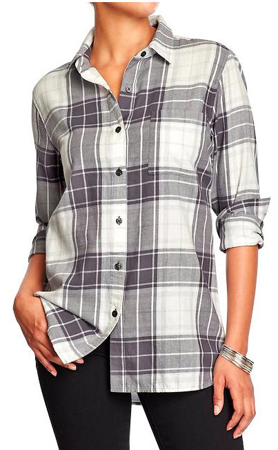 Old Navy Women's Boyfriend Shirt.