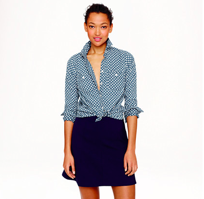 J.Crew Chambray Workshirt in Flower Bud. {currently on sale!}