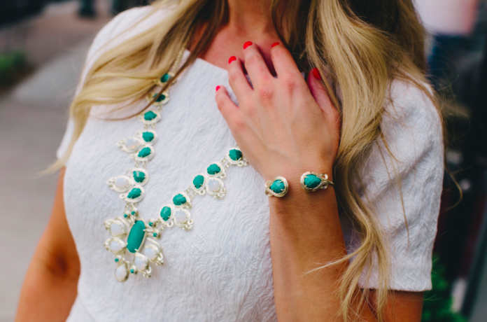 Kendra Scott Tedi Mosiac Long Necklace.