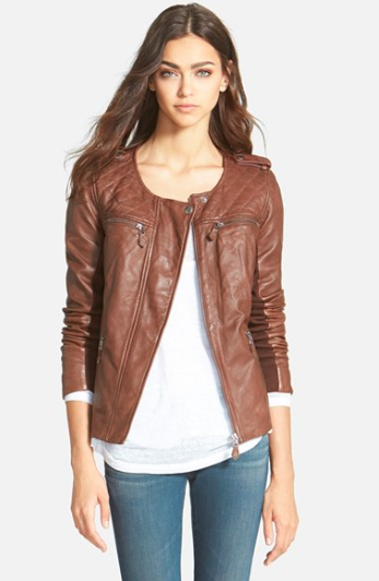 Nordstrom Hinge Quilted Leather Jacket.