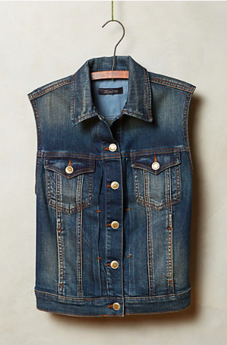 Anthropologie Level 99 Denim Vest.