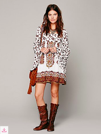 Free People Bell Sleeve Dress, currently on sale.
