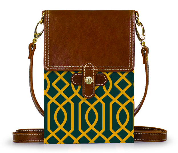 The Barrington Gifts Stadium Crossbody Bag in Jen's Baylor colors.