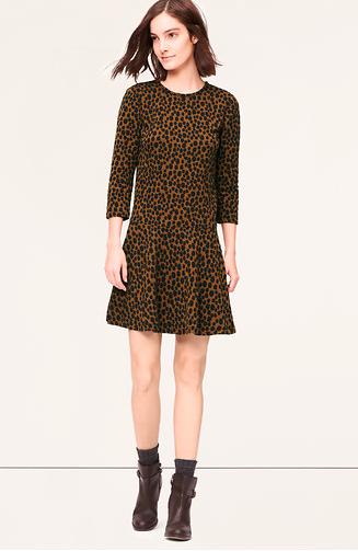 LOFT Abstract Animal Print Mini Dress.