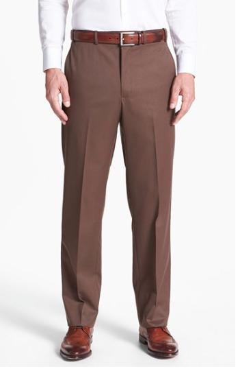 Flat Front Medium Break Trousers :: Nordstrom