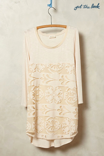 Anthropologie Capriccio Lace Tunic