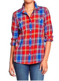 Old Navy Plaid Flannel Shirt.