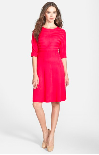 Eliza J Fit and Flare Sweater Dress.