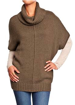 Old Navy Cowl-Neck Poncho Sweater.