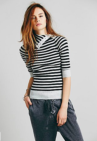Free People Striped Turtleneck.