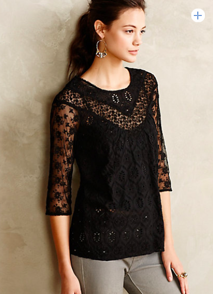 Anthropologie Lace Ensemble Top.