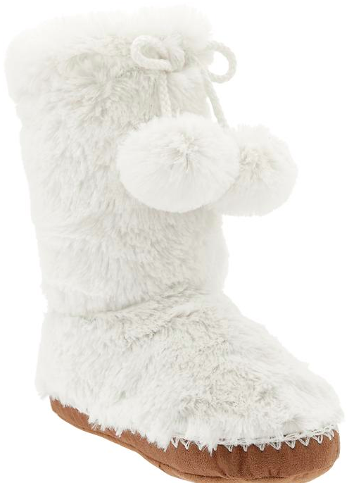 Old Navy Girl's Furry Boot Slippers.