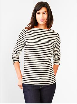 Gap Stripe Boatneck Tee. {a great long-sleeved version}
