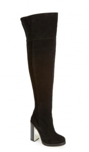 Topshop Carbon Over the Knee Boots.