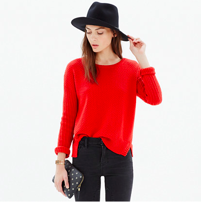 Madewell Texturemix Pullover Sweater.