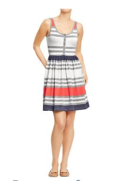 Old Navy Striped Henley Tank Dress, $32.