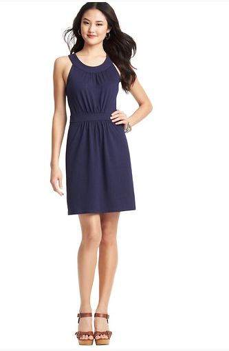 LOFT Scoop Halter Neck Dress, $49.50.